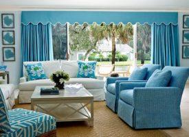 Синий и голубой цвет в интерьере —  это просто потрясающе.